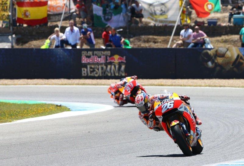 MotoGP  Педроса победник на Херез  Роси сеуште води во генерален пласман