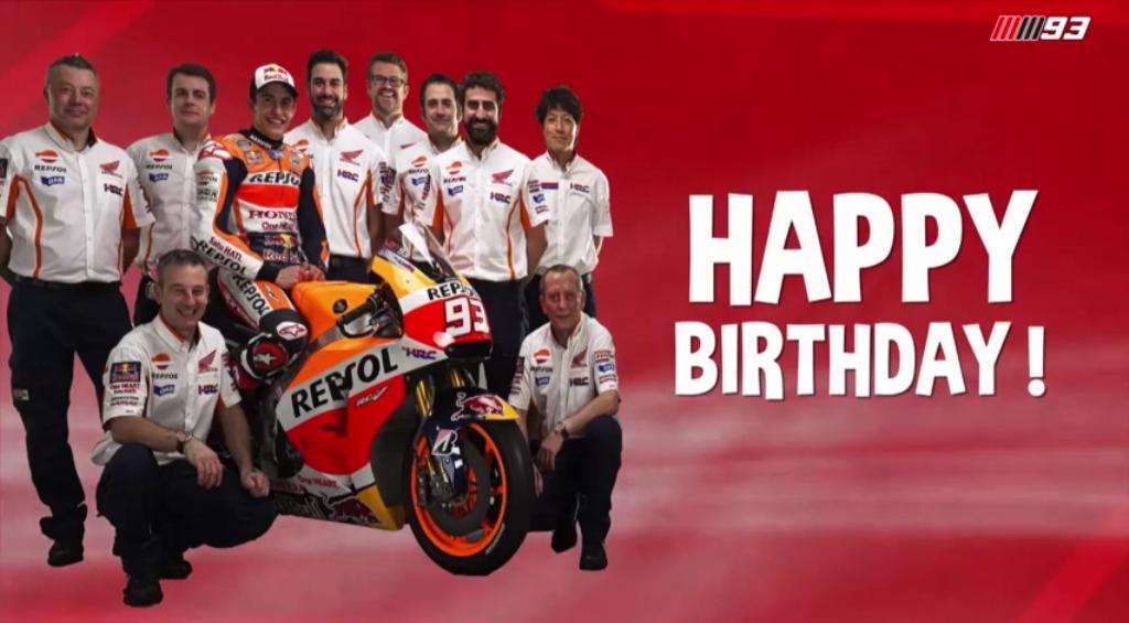 MotoGP  Среќен 25 ти роденден на Марк Маркез