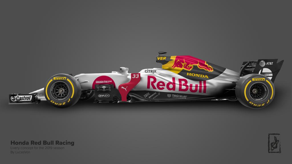 F1  Red Bull со мотор на Honda од 2019 та