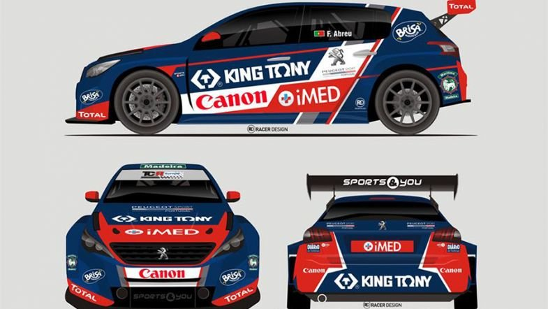 Франсиско Обре со Peugeot во TCR Европа