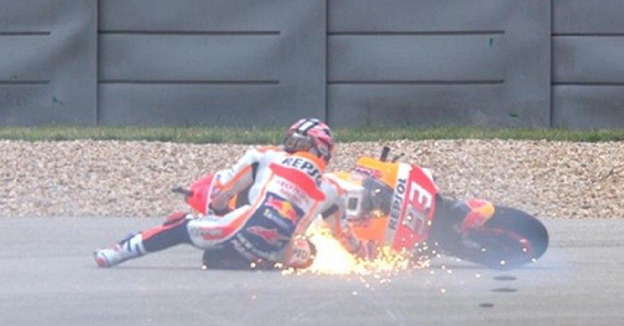 MotoGP  Маркез падна  но ја освои пол позицијата во Америка  за потоа да добие казна